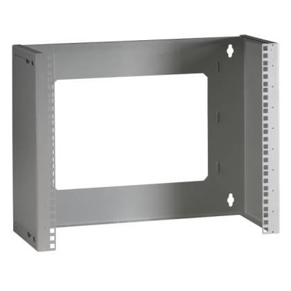 """19"""" Wandgestell Rack tiefenverstellbar 9HE Tiefe 225-345mm lichtgrau RAL7035"""
