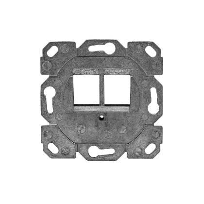 Tragring Trägerrahmen umlaufend für 2x Keystone als Netzwerkdose designfähig TAE
