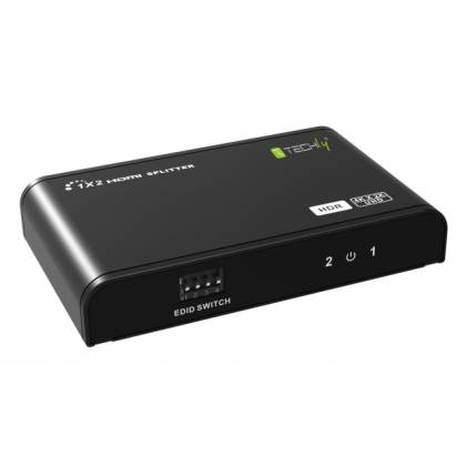 HDMI Splitter 4K 4 Port, HDR, 4K2K 60Hz Techly IDATA-HDMI2-4K2HDR