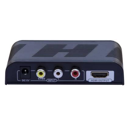 Composite/SVideo/Audio zu HDMI Konverter mit Skaler Techly IDATA-SPDIF-6E2