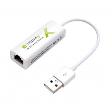 USB2.0 Konverter auf RJ45 Fast Ethernet Techly IDATA-ADAP-USB2TY2