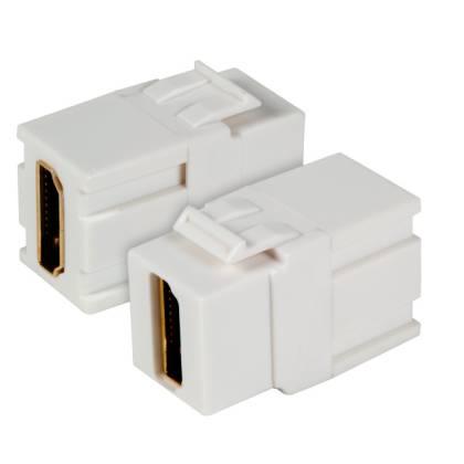 Keystone Einbauadapter HDMI A - A weiß