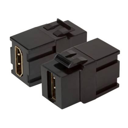 Keystone Einbauadapter HDMI A - A schwarz