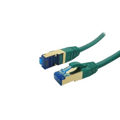 ProfiPatch Patchkabel Cat.6A S/FTP RJ45 mit Cat.7 Rohkabel PiMF LSZH 10GB grün 0,25m