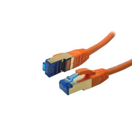ProfiPatch Patchkabel Cat.6A S/FTP RJ45 mit Cat.7 Rohkabel PiMF LSZH 10GB orange 0,5m