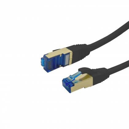 ProfiPatch Patchkabel Cat.6A S/FTP RJ45 mit Cat.7 Rohkabel PiMF LSZH 10GB schwarz 0,25m