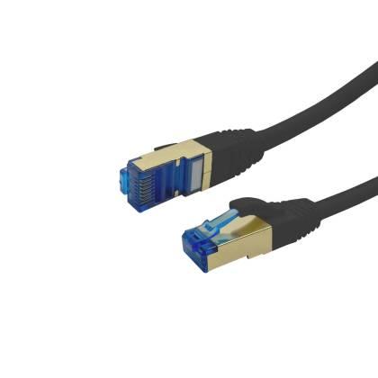 ProfiPatch Patchkabel Cat.6A S/FTP RJ45 mit Cat.7 Rohkabel PiMF LSZH 10GB schwarz 0,5m